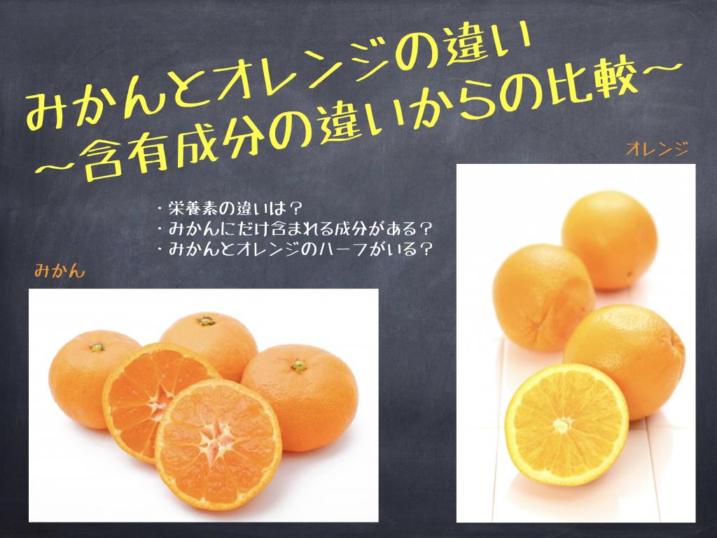 みかんとオレンジの違い